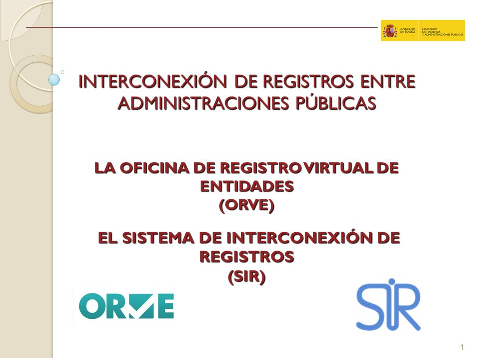 Interconexi n de registros entre administraciones p blicas for Oficina virtual sistema red