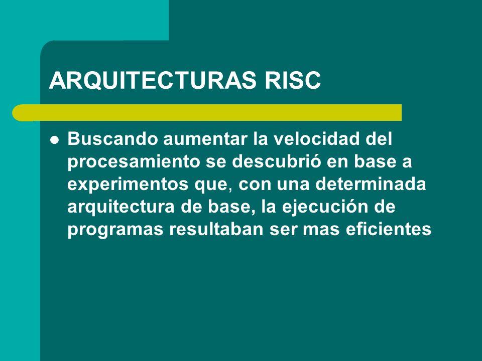 ARQUITECTURAS RISC