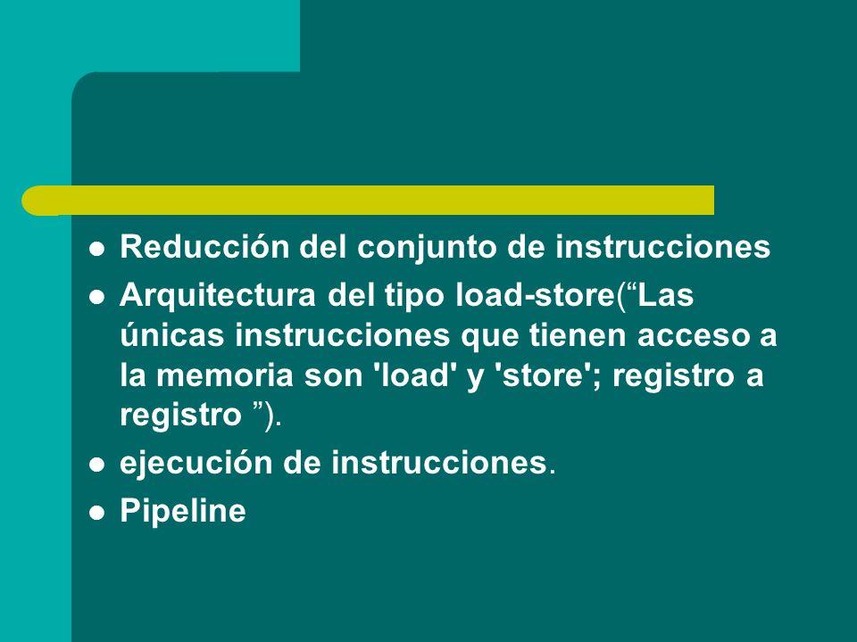 Reducción del conjunto de instrucciones