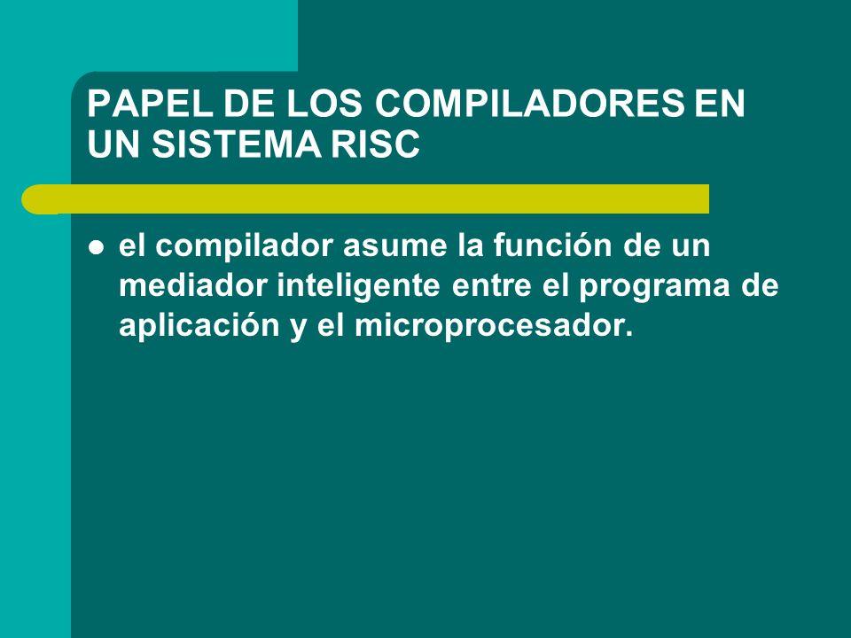 PAPEL DE LOS COMPILADORES EN UN SISTEMA RISC