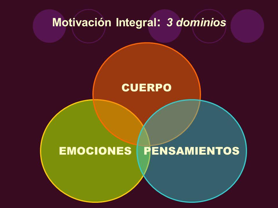 Motivación Integral: 3 dominios