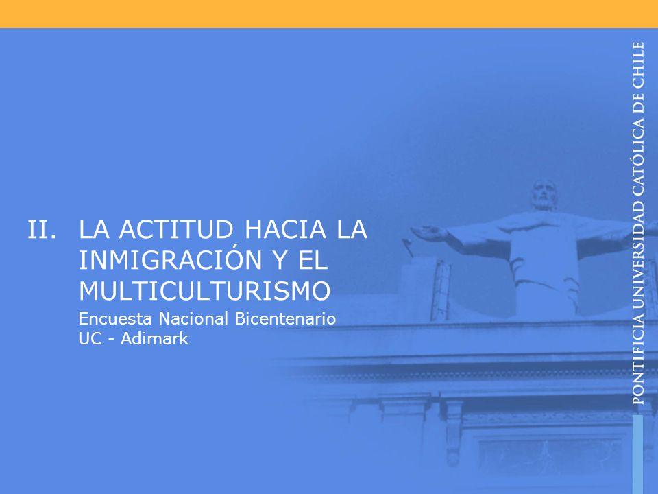LA ACTITUD HACIA LA INMIGRACIÓN Y EL MULTICULTURISMO