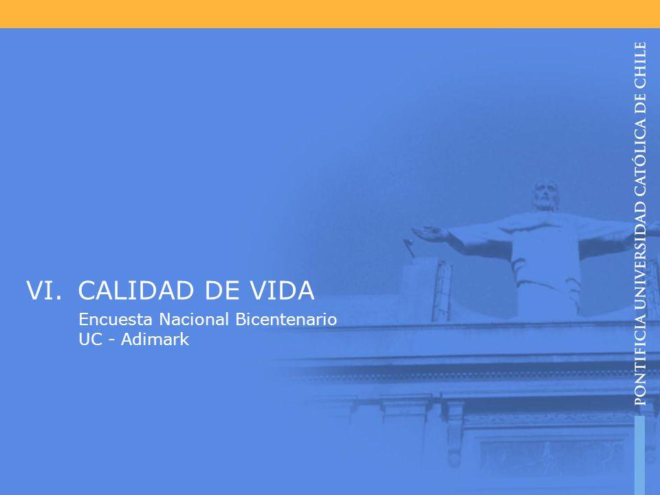 CALIDAD DE VIDA Encuesta Nacional Bicentenario UC - Adimark