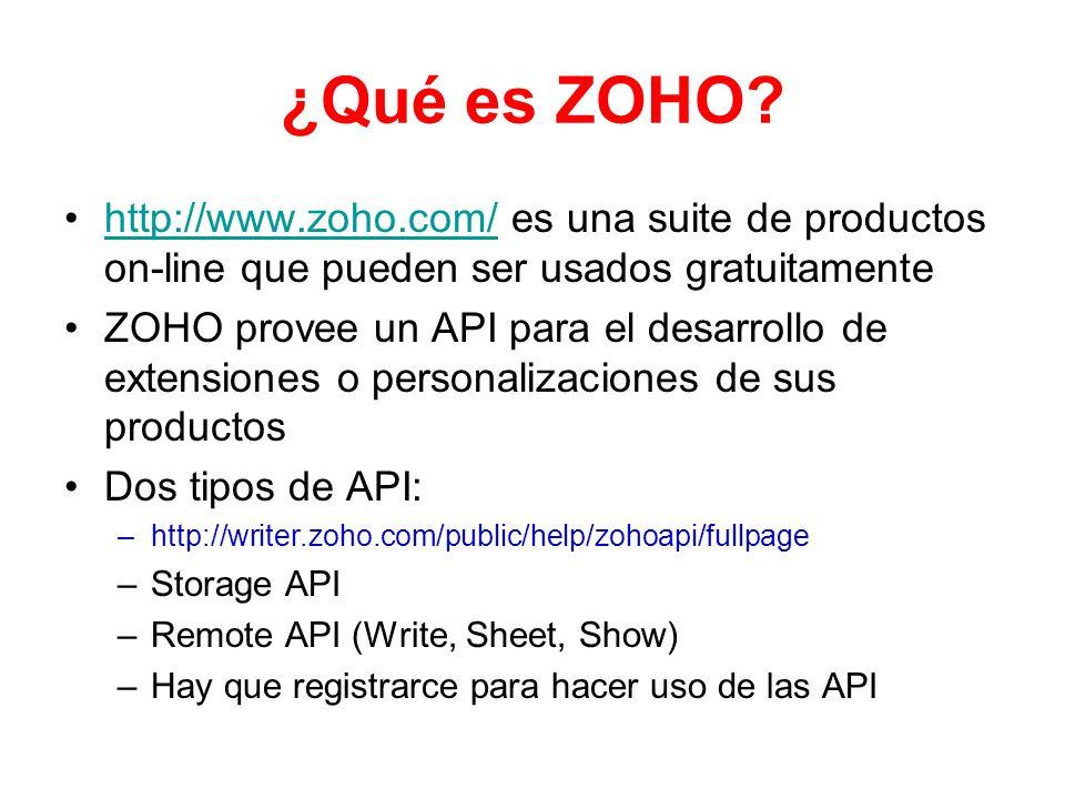 ¿Qué es ZOHO http://www.zoho.com/ es una suite de productos on-line que pueden ser usados gratuitamente.