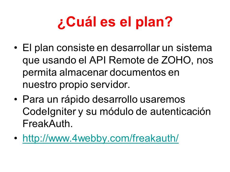 ¿Cuál es el plan