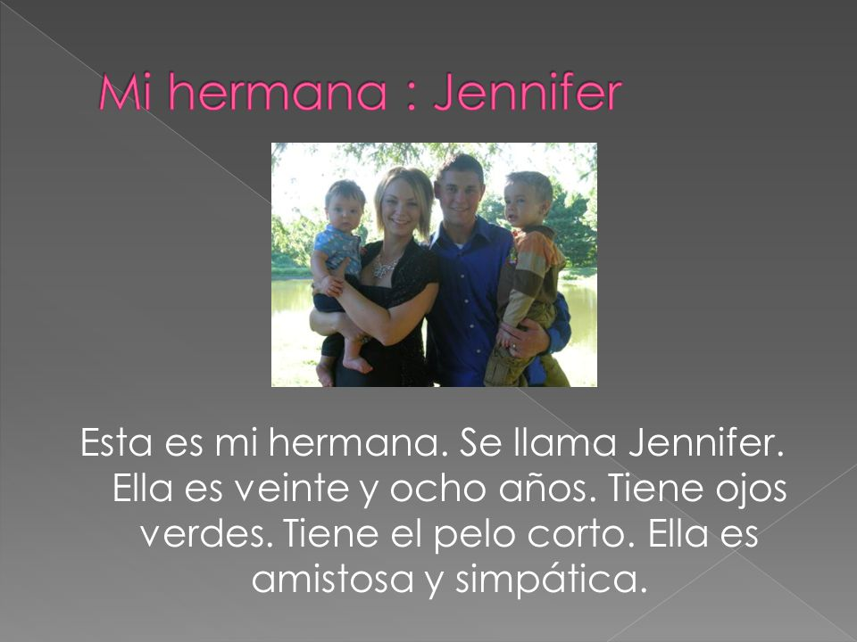 Mi hermana : Jennifer