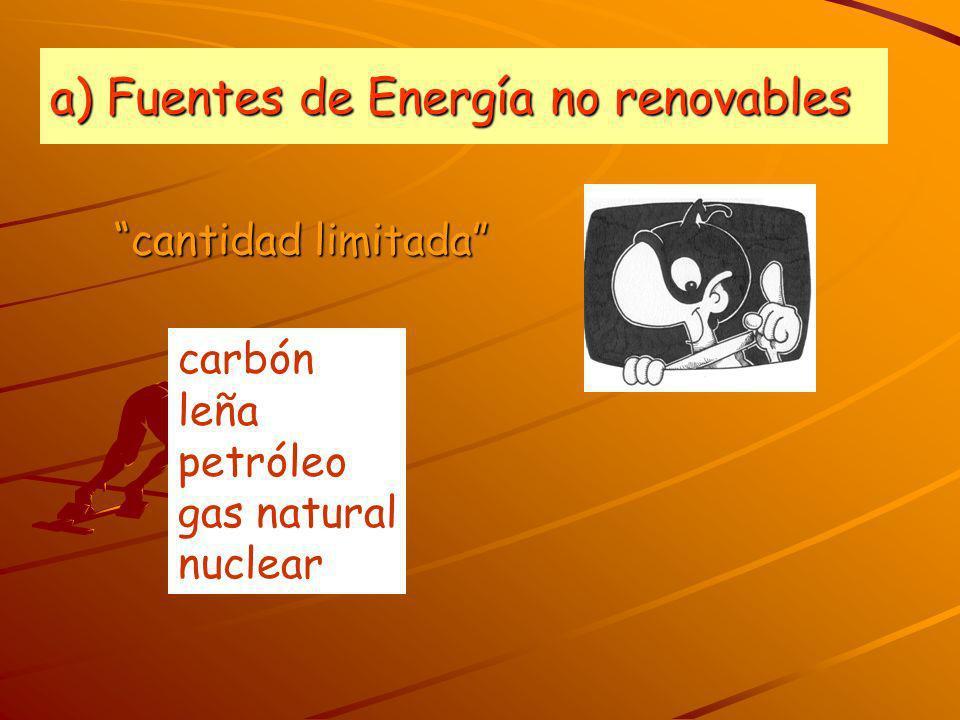 a) Fuentes de Energía no renovables