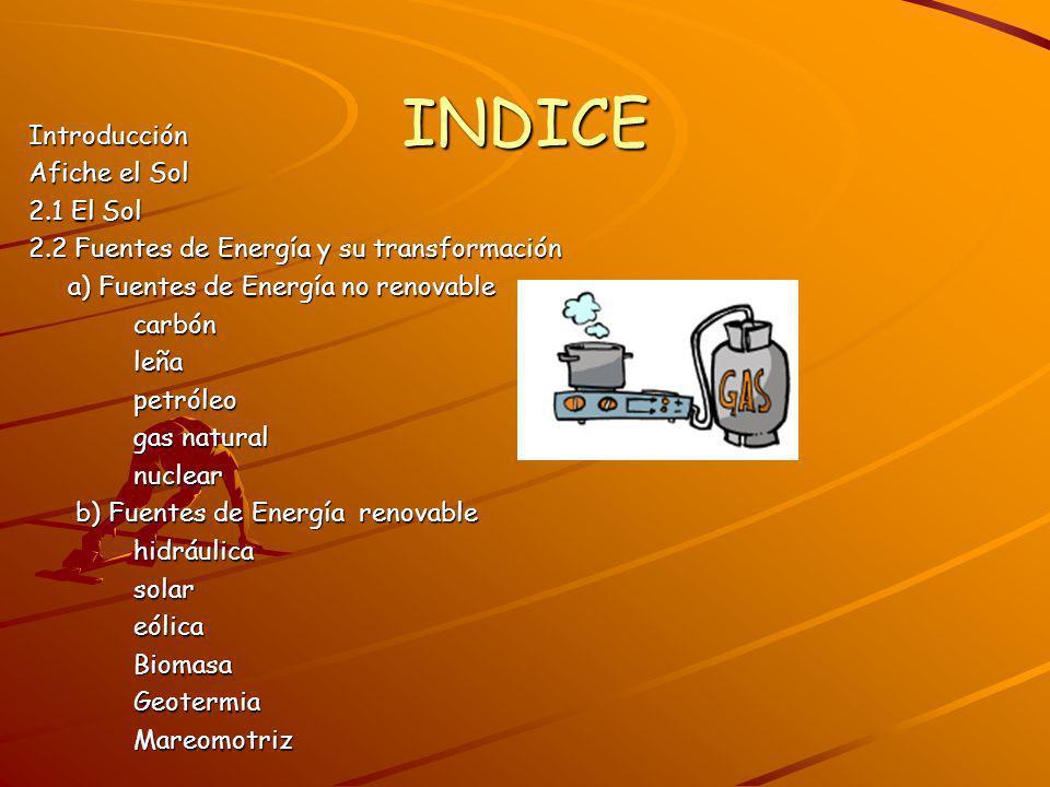 INDICE Introducción Afiche el Sol 2.1 El Sol