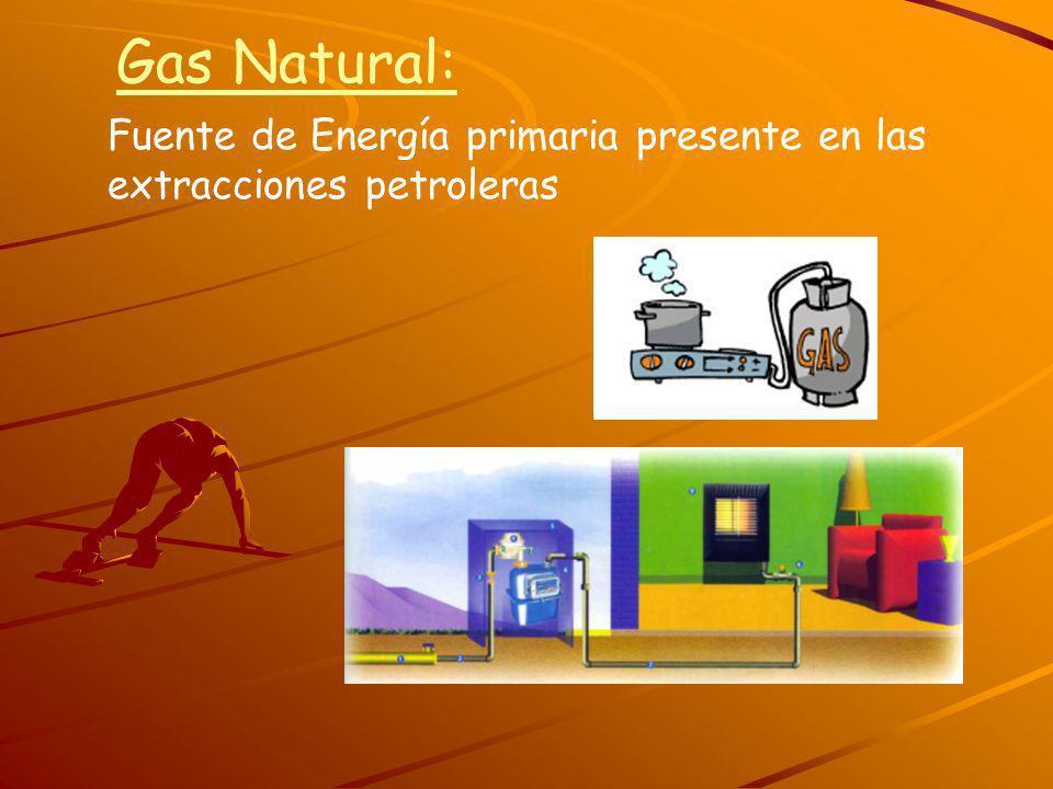 Gas Natural: Fuente de Energía primaria presente en las