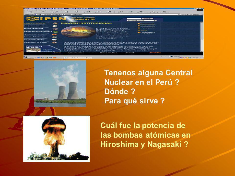 Tenenos alguna Central Nuclear en el Perú