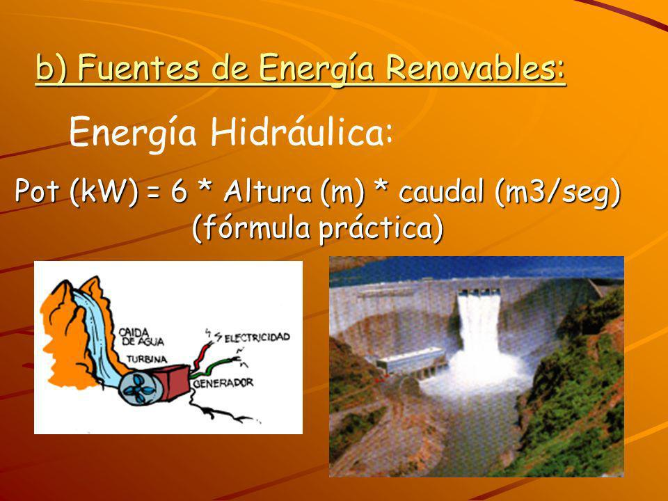 b) Fuentes de Energía Renovables: