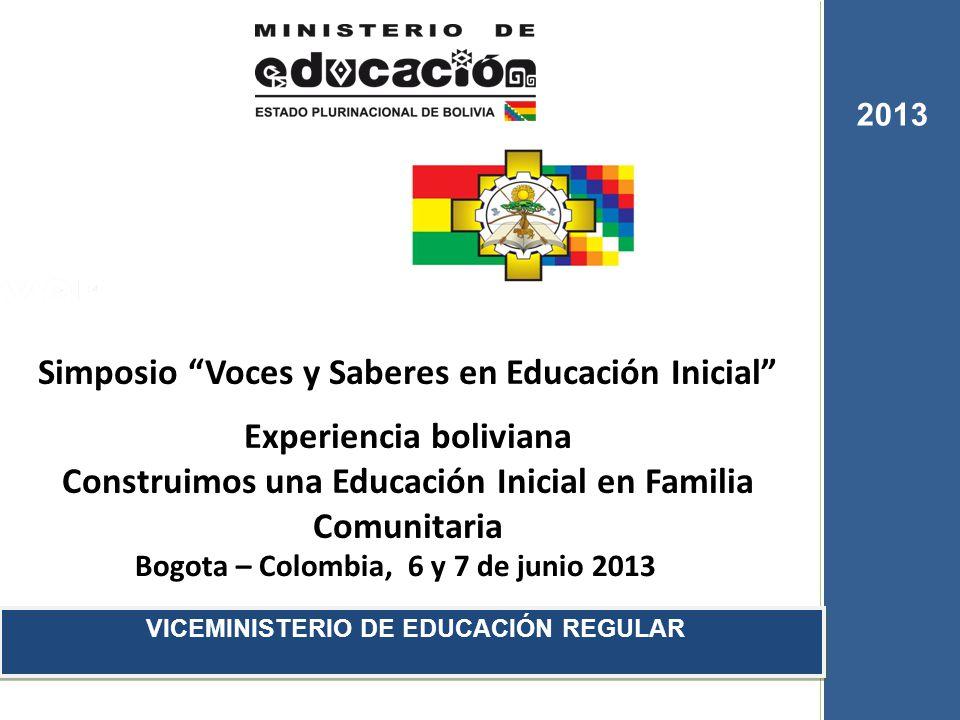 Simposio Voces y Saberes en Educación Inicial Experiencia boliviana