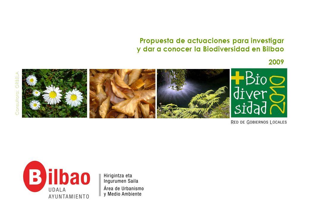 Propuesta de actuaciones para investigar y dar a conocer la Biodiversidad en Bilbao