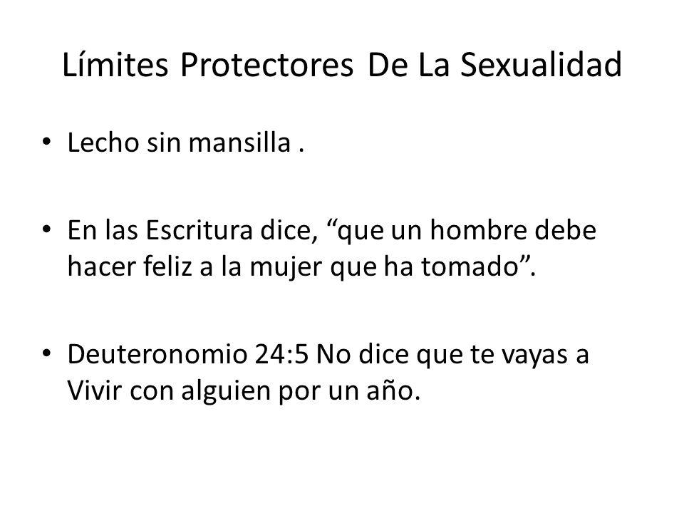 Límites Protectores De La Sexualidad