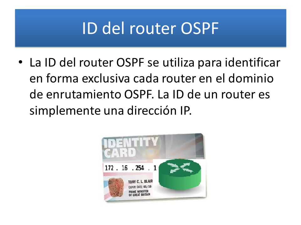 ID del router OSPF