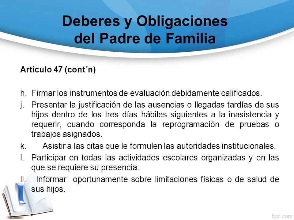 Deberes y Obligaciones del Padre de Familia
