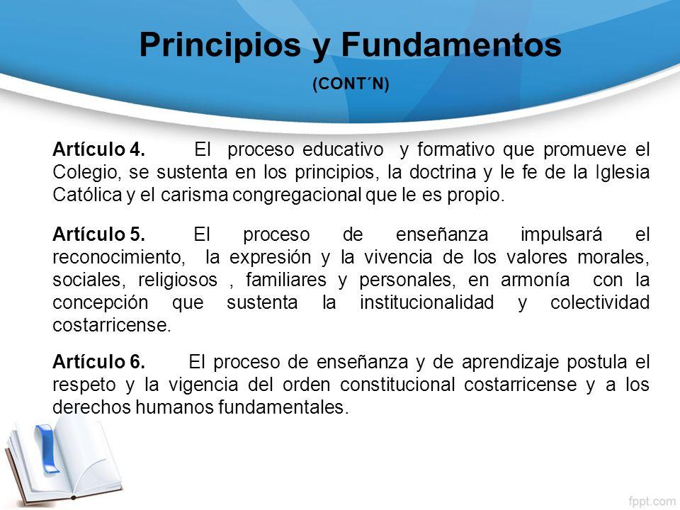 Principios y Fundamentos