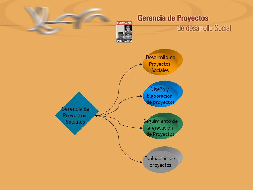 Desarrollo de Proyectos. Sociales. Diseño y. Elaboración. de proyectos. Gerencia de. Proyectos.
