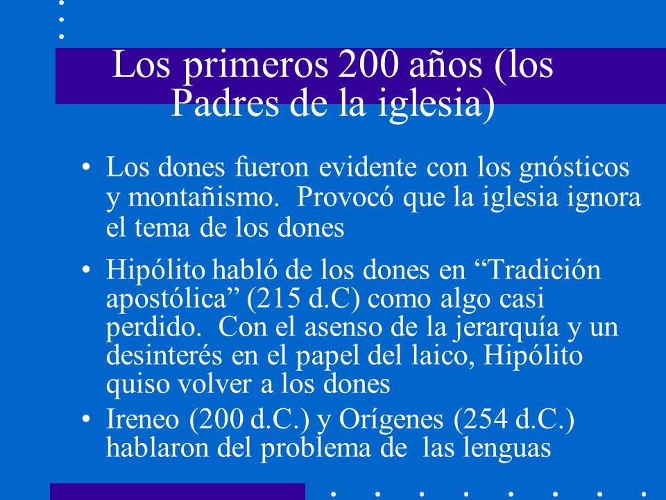 Los primeros 200 años (los Padres de la iglesia)