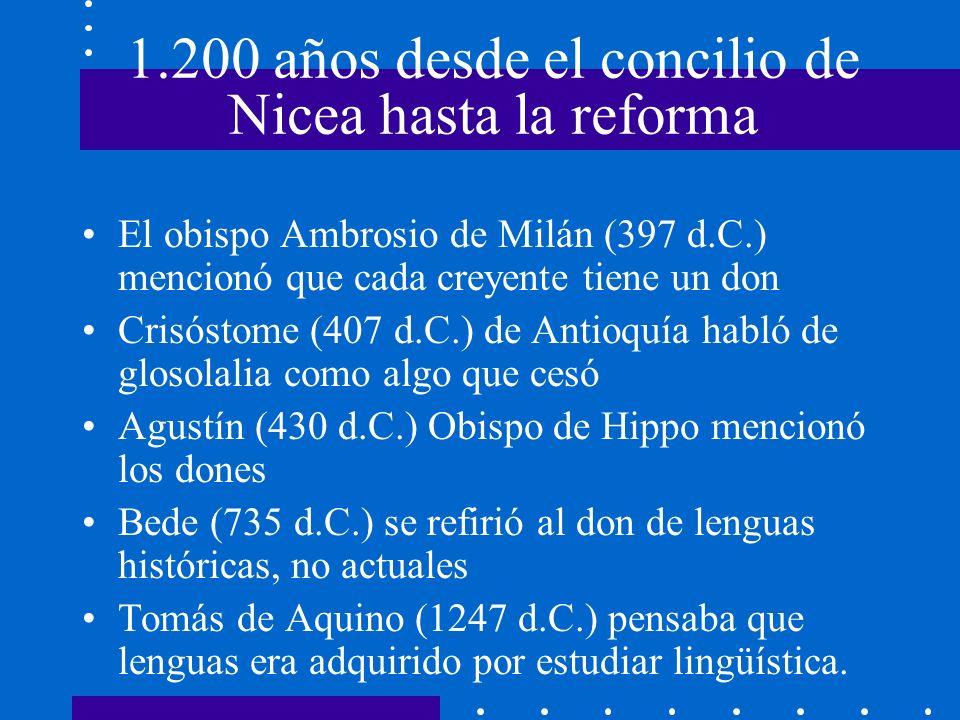 1.200 años desde el concilio de Nicea hasta la reforma