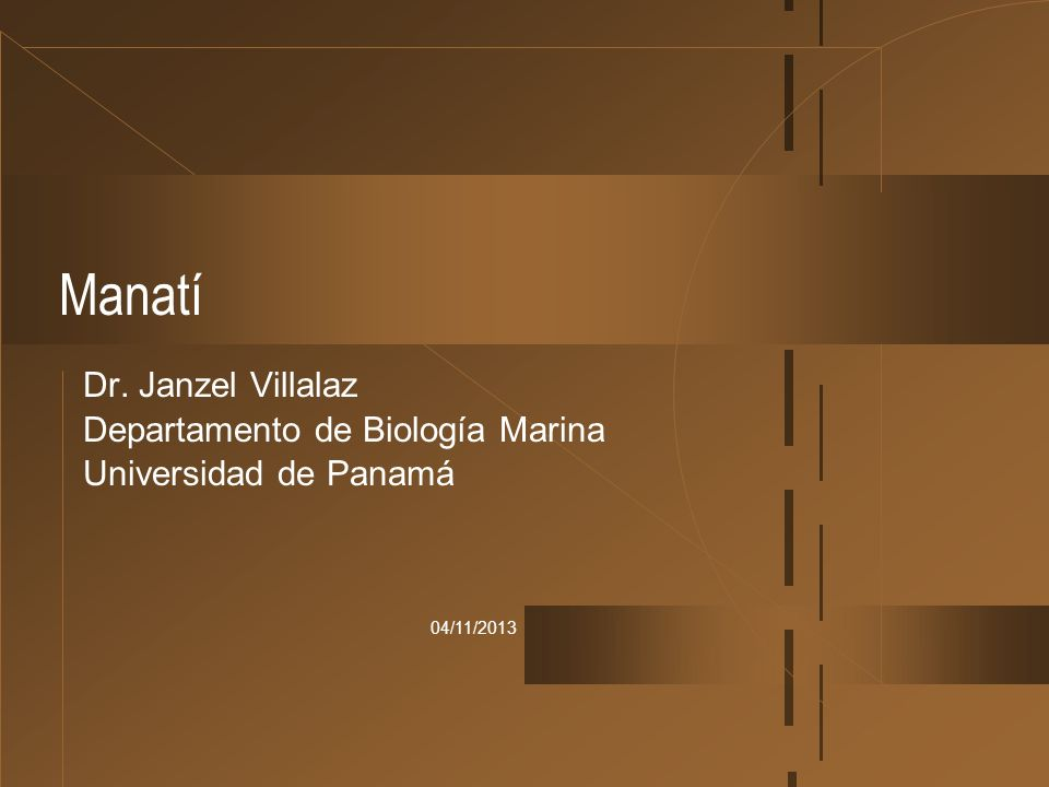 Manatí Dr. Janzel Villalaz Departamento de Biología Marina