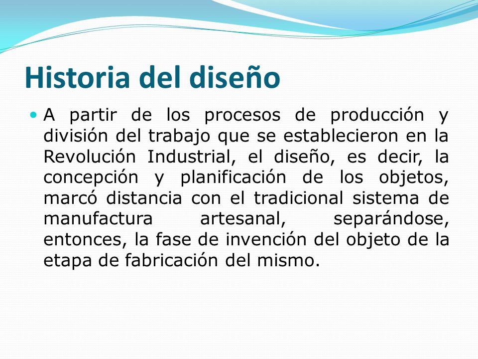 Historia del dise o a partir de los procesos de producci n for Descripcion del proceso de produccion