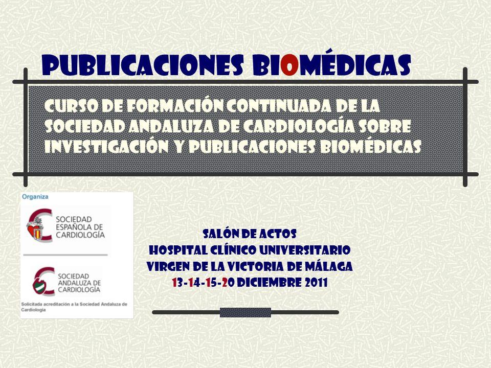 PUBLICACIONES BIOMÉDICAS
