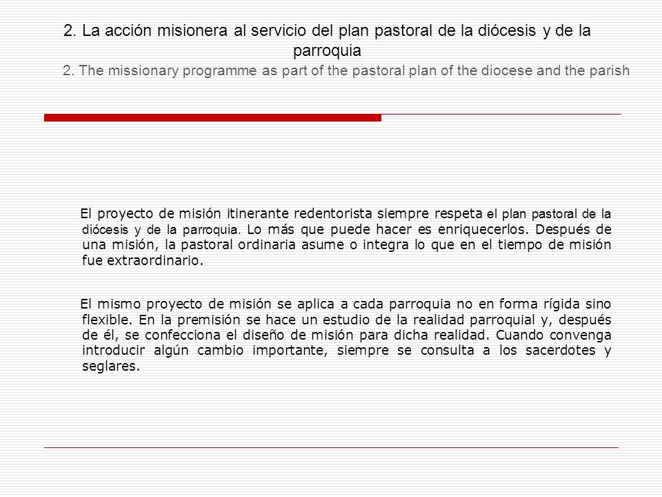 2. La acción misionera al servicio del plan pastoral de la diócesis y de la parroquia