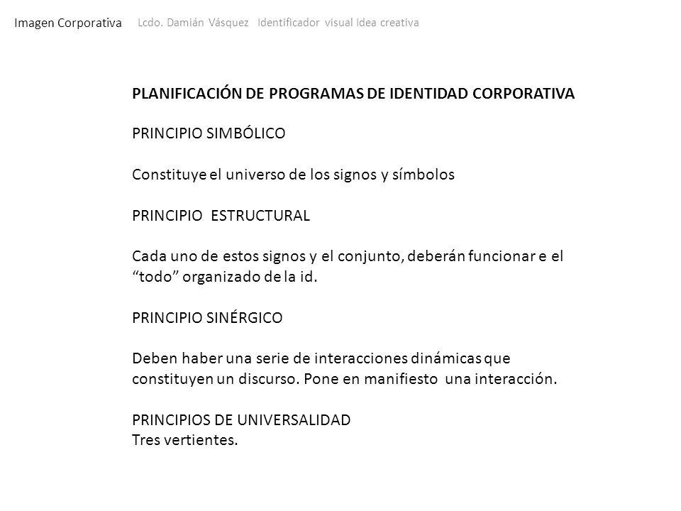 PLANIFICACIÓN DE PROGRAMAS DE IDENTIDAD CORPORATIVA