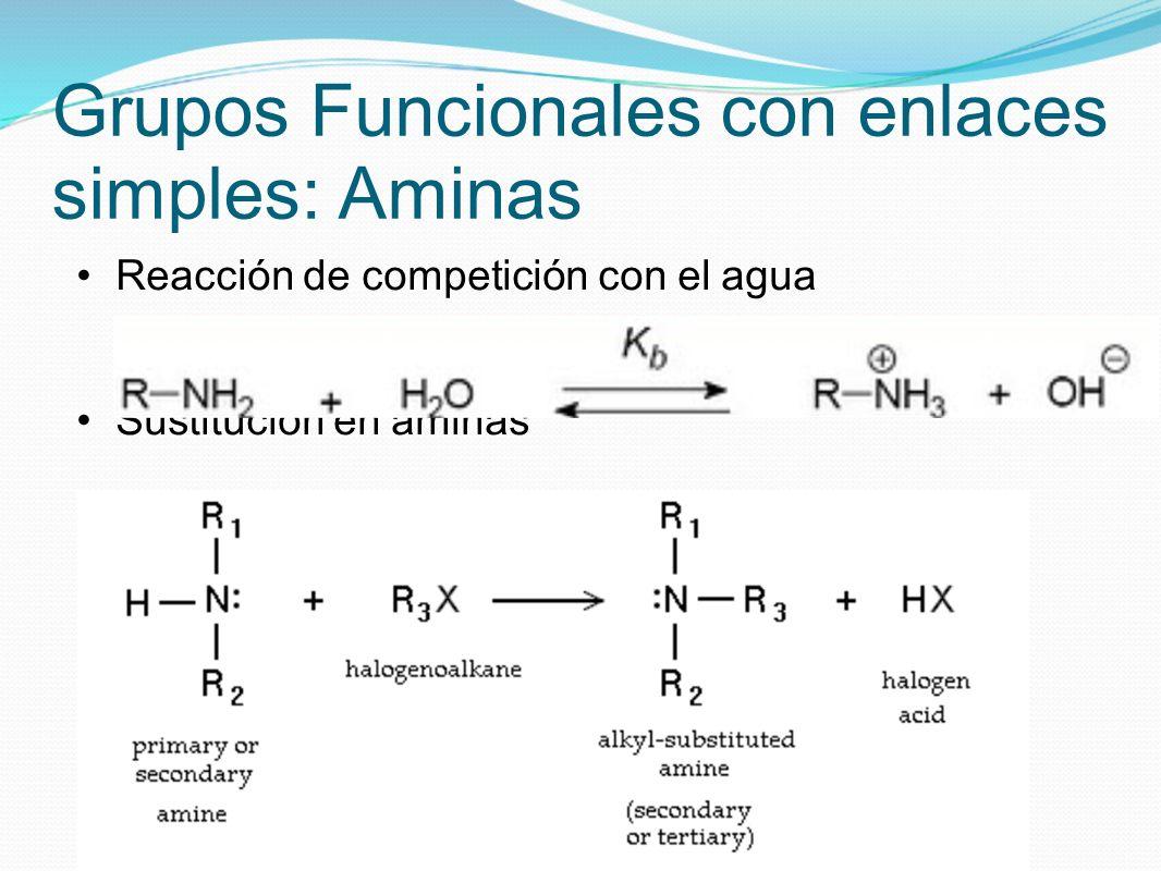 Grupos Funcionales con enlaces simples: Aminas