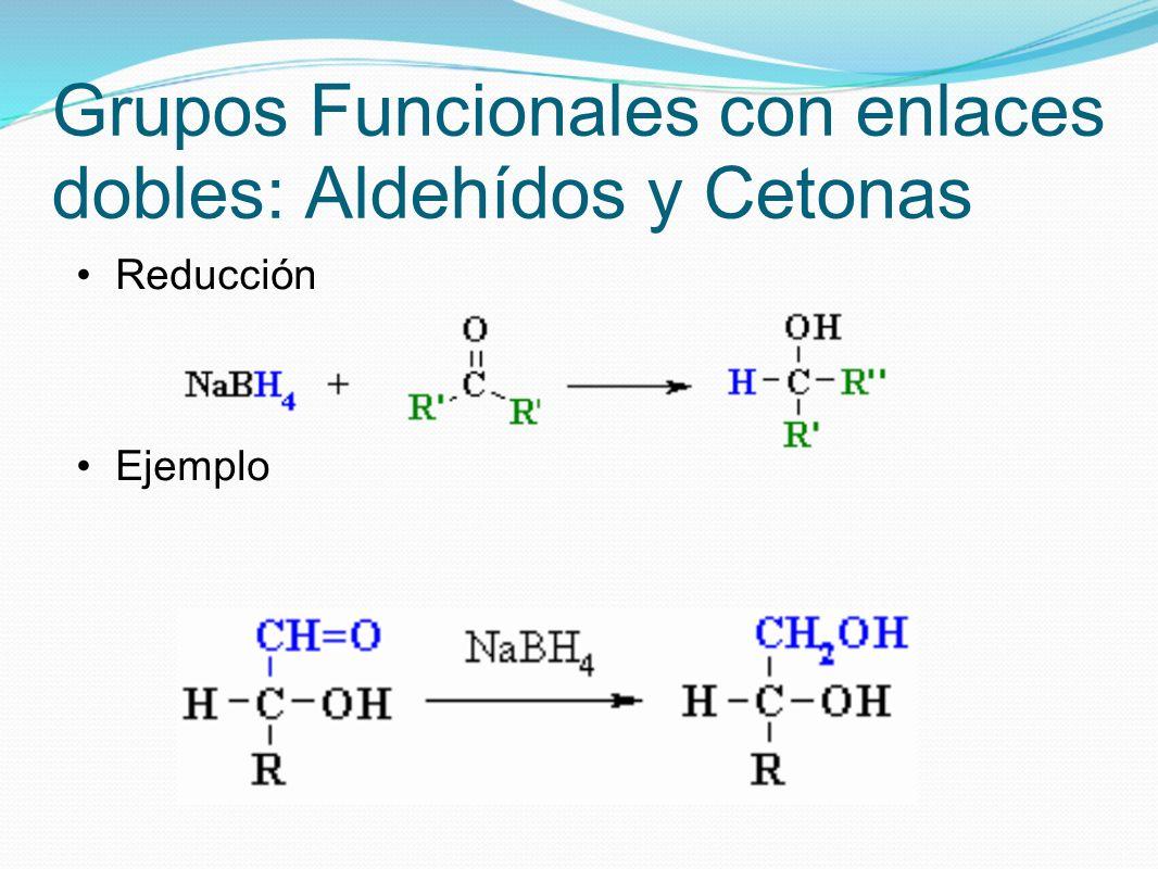Grupos Funcionales con enlaces dobles: Aldehídos y Cetonas