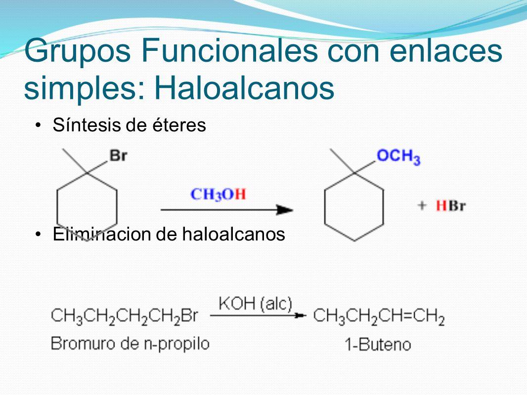 Grupos Funcionales con enlaces simples: Haloalcanos