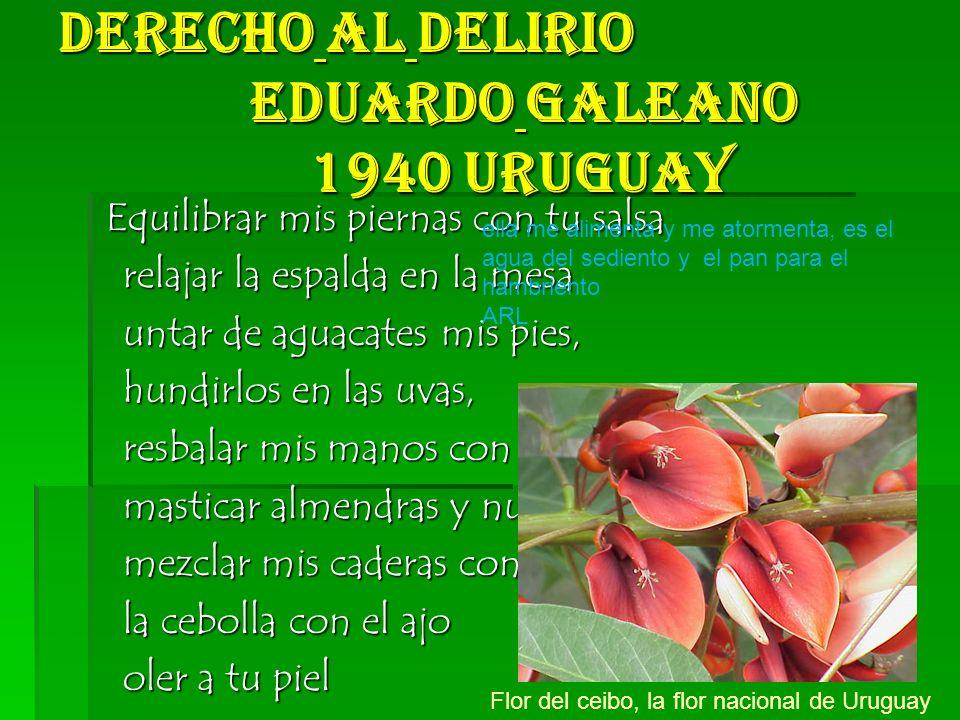 Derecho al delirio Eduardo Galeano 1940 Uruguay