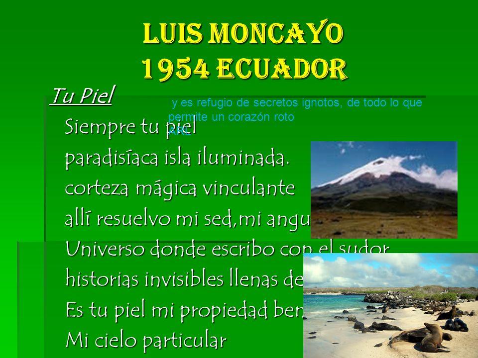 luis Moncayo 1954 Ecuador