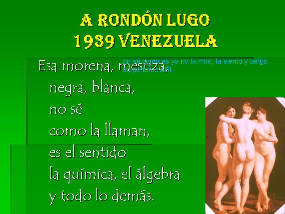 A Rondón Lugo 1939 Venezuela