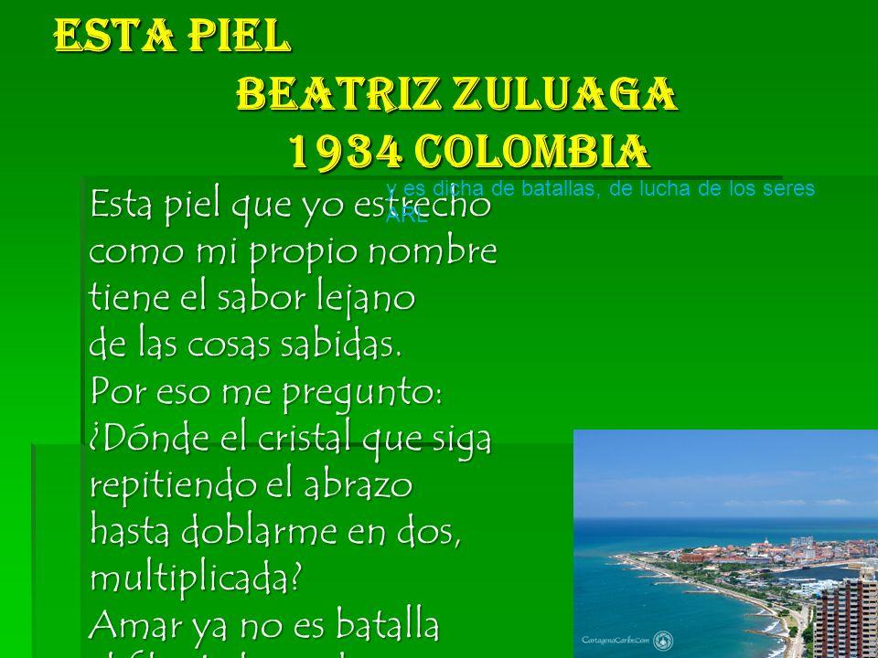 Esta Piel Beatriz Zuluaga 1934 Colombia