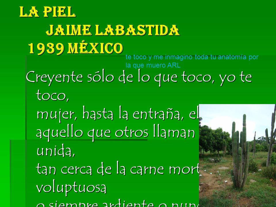 La Piel Jaime Labastida 1939 México