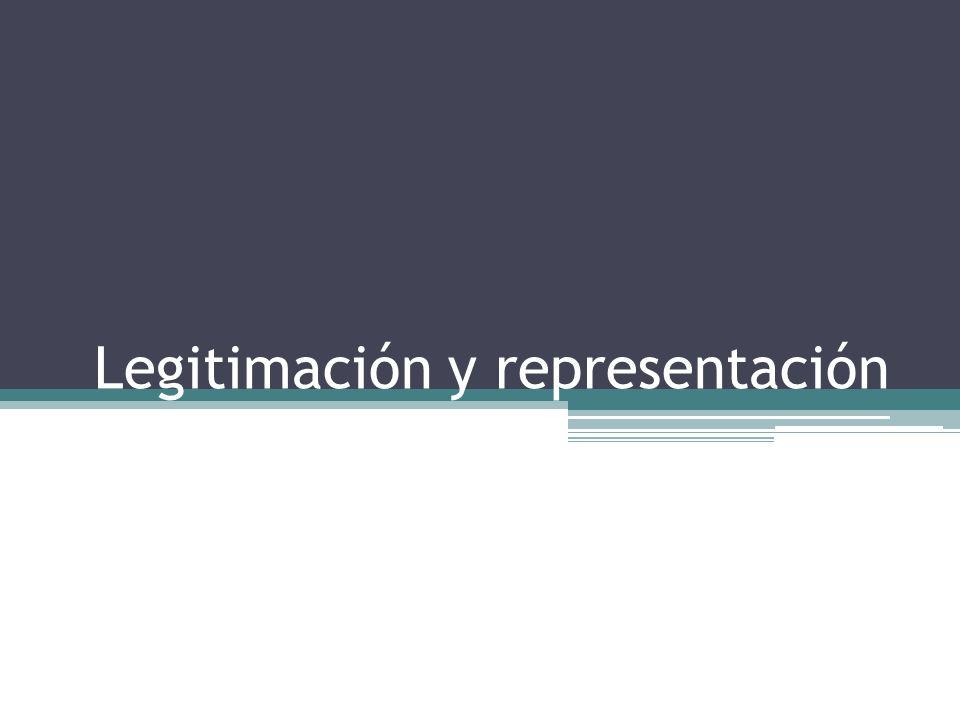 Legitimación y representación