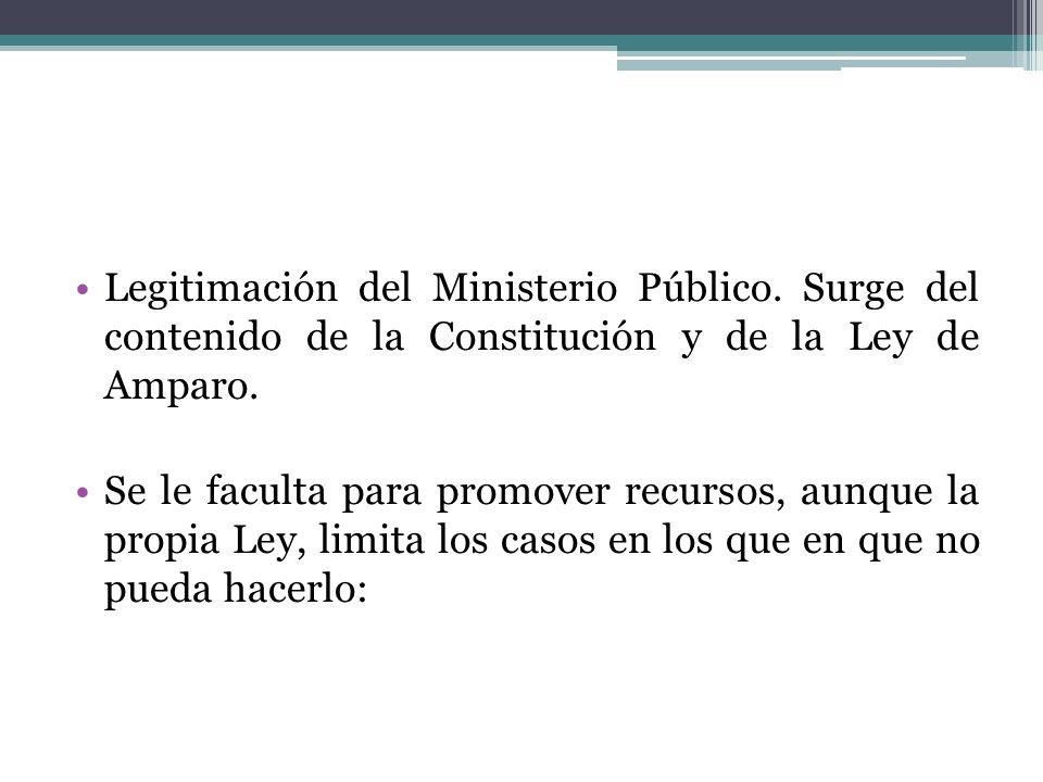 Legitimación del Ministerio Público