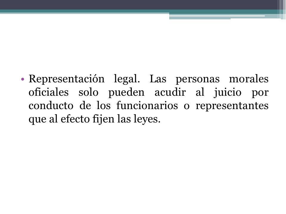 Representación legal.