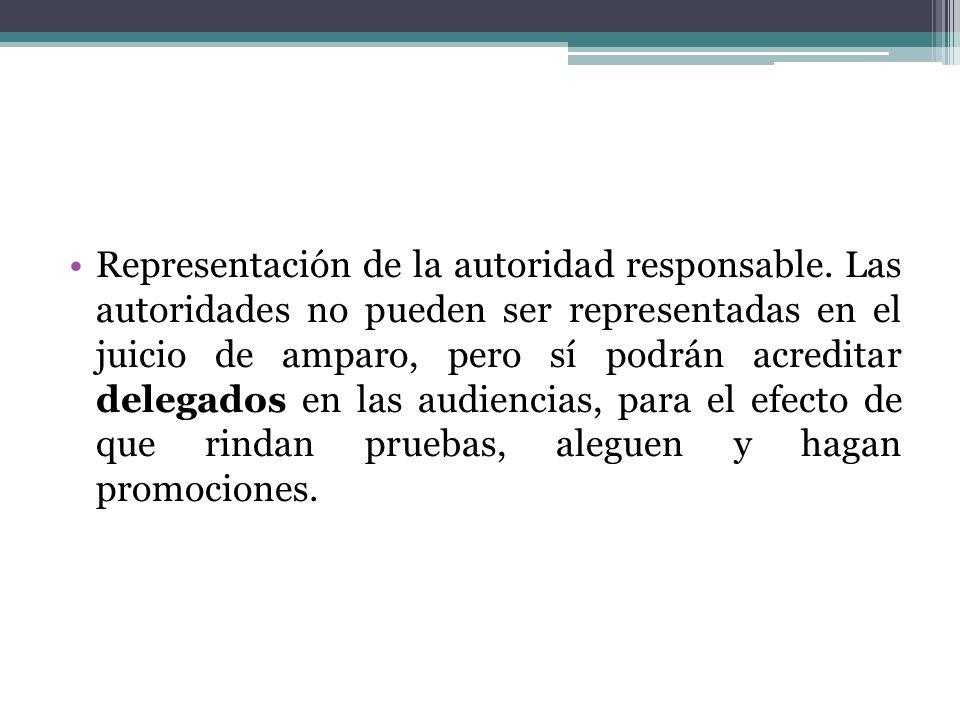 Representación de la autoridad responsable