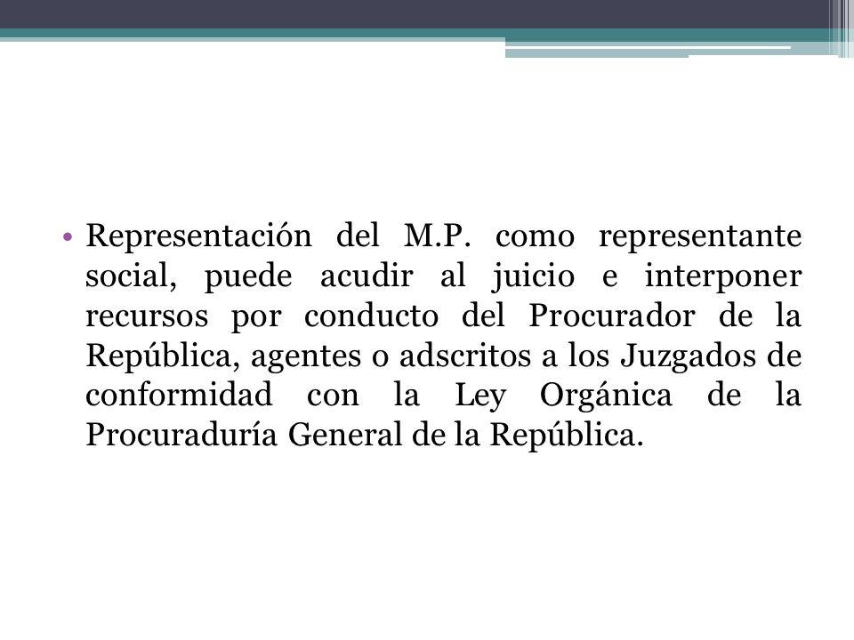 Representación del M.P.
