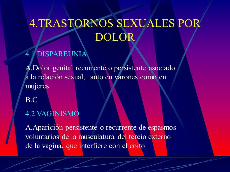 4.TRASTORNOS SEXUALES POR DOLOR