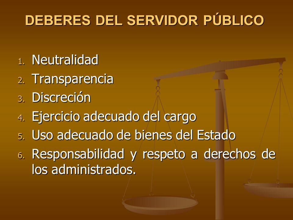 DEBERES DEL SERVIDOR PÚBLICO