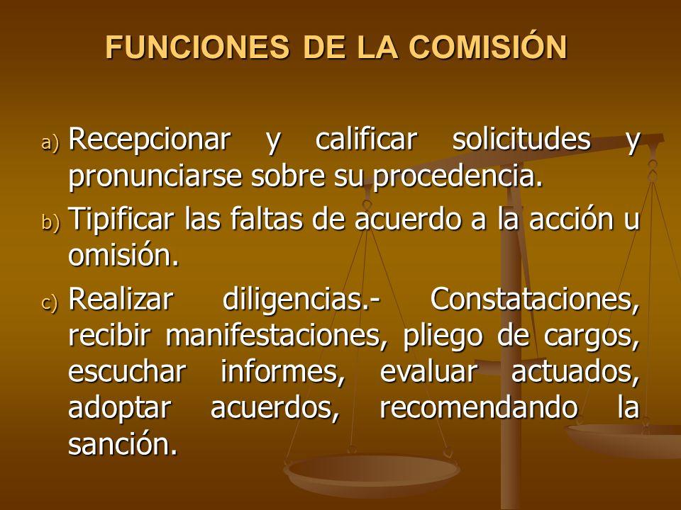 FUNCIONES DE LA COMISIÓN