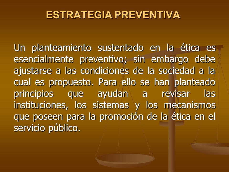 ESTRATEGIA PREVENTIVA