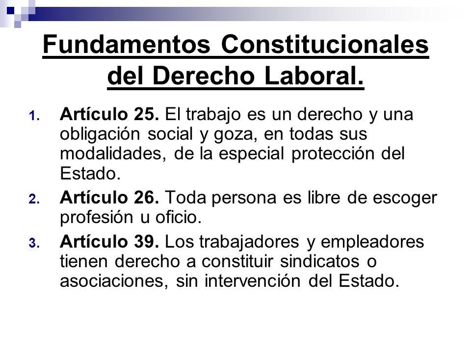 Fundamentos Constitucionales del Derecho Laboral.