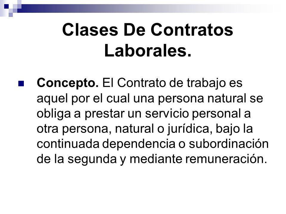 Clases De Contratos Laborales.