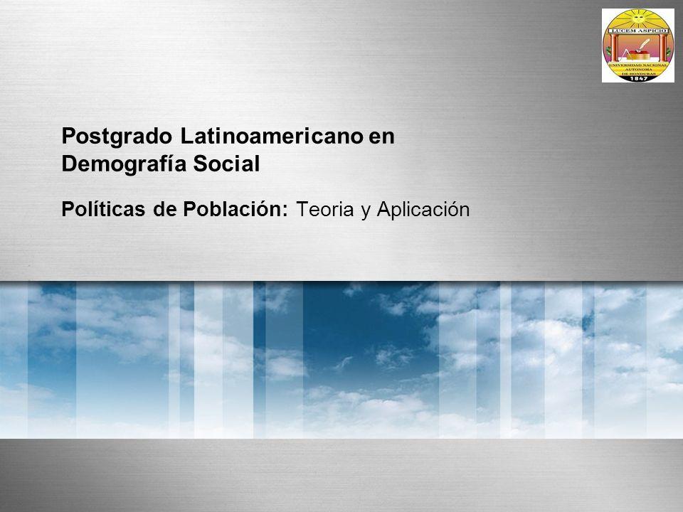 Postgrado Latinoamericano en Demografía Social