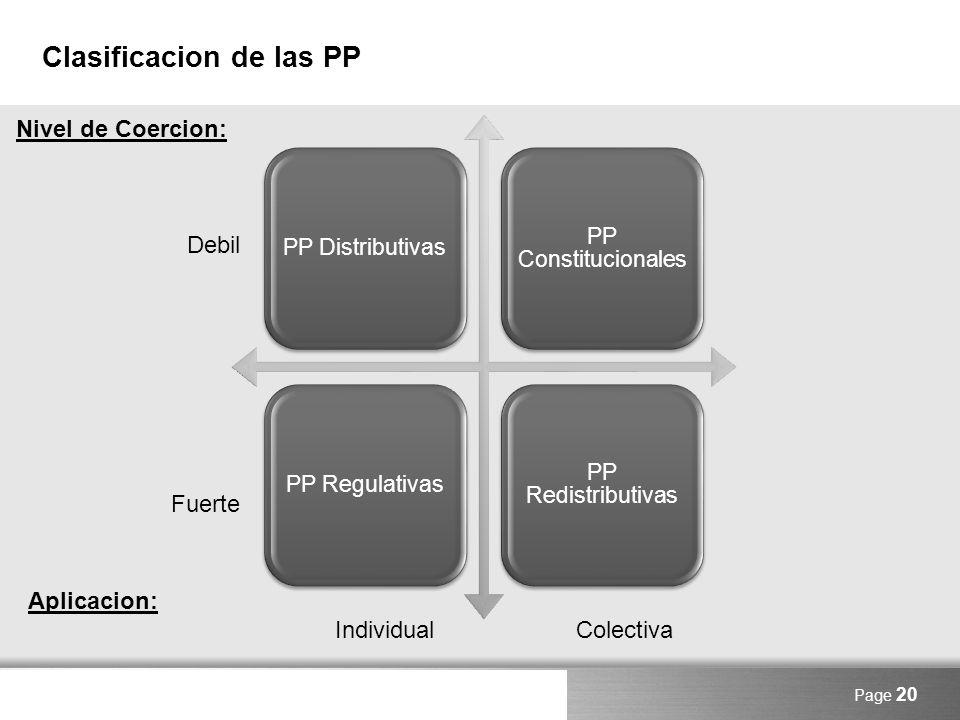 Clasificacion de las PP